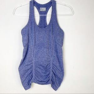 "Athleta ""Breathe"" Racerback Tank Ruching sz M"